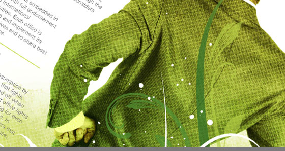Poster to raise greater awareness of Hogan Lovells' commitment to the environment.